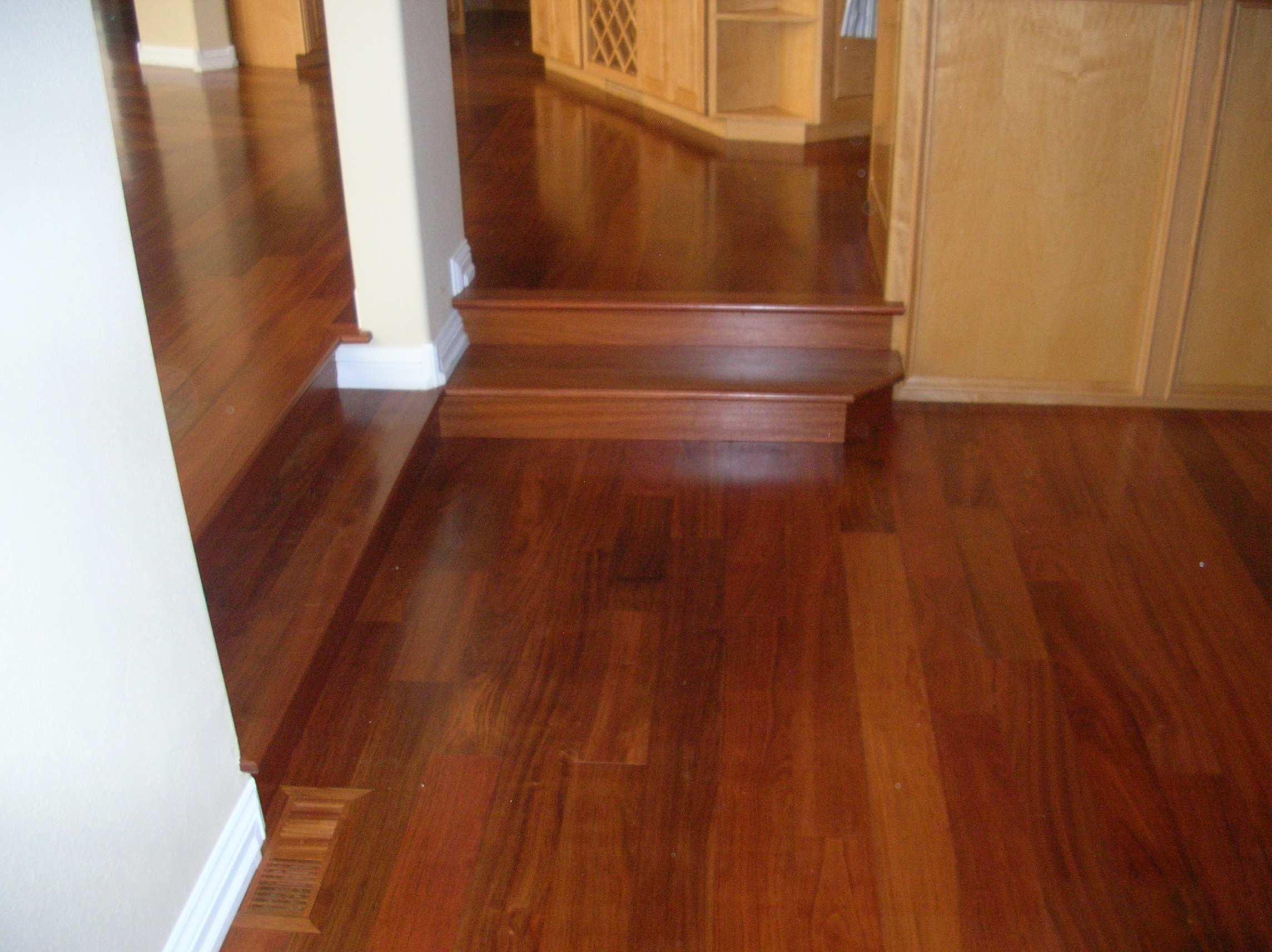 Kendall 39 s custom wood floors and steps inc home for Cherry hardwood flooring
