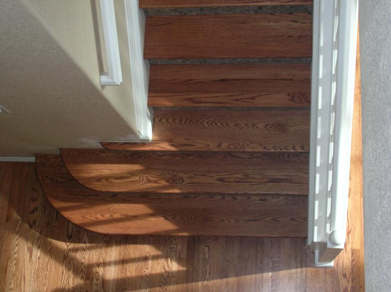 Red Oak Stairs Tile Risers